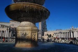 Fontana di Piazza San Pietro in Roma - dettaglio
