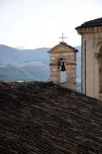 Sul tetto di Cascia