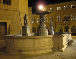 Luci sulla fontana