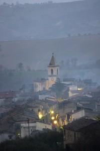 Campanile della chiesa vecchia nel Morrutto