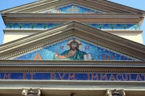ORIGGIO Chiesa dell'IMMACOLATA dettaglio della Facciata