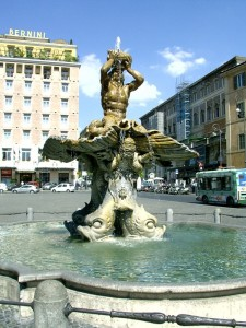 La fontana del Tritone, Roma