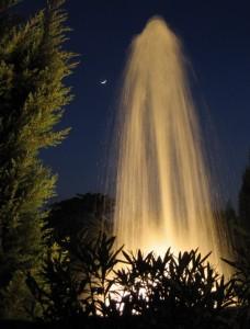 La fontana della piazza a Scandicci