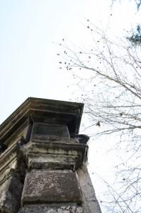 Fontana di Grimoaldo - Le colonne a fine Febbraio
