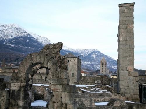 Aosta - campanile + anfiteatro