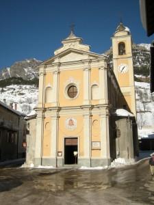 Pietraporzio, Valle Stura di Demonte, chiesa di Santo Stefano