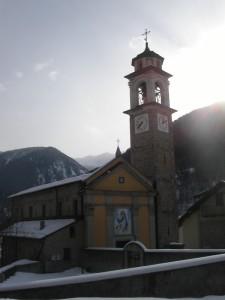 Pontebernardo, frazione di Pietraporzio, Valle Stura di Demonte, chiesa parrocchiale Maria Vergine Assunta