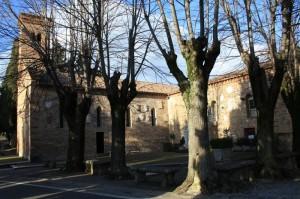 chiesa di Polenta vista laterale