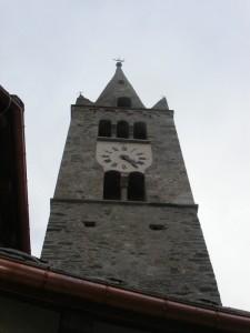 Savoulx, frazione di Oulx, Val di Susa, campanile della chiesa di San Gregorio Magno