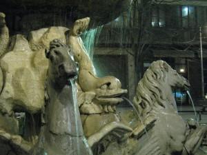 La fontana dei Cavalli - particolare