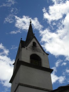 campanile della chiesetta di soraga, Val di Fassa
