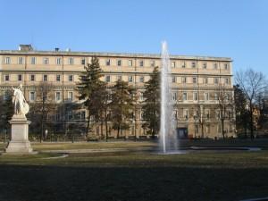 Torino, fontana al giardino Aiuola Balbo
