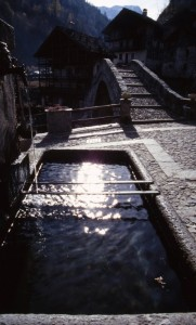 Il sole nella fontana