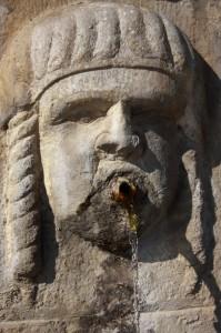 Particolare della Fontana di San Marco