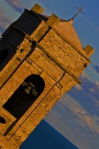 Tramonto dietro a San Ciriaco…..