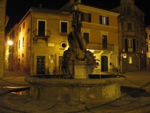 La fontana di piazza Marconi