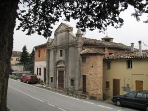 La vecchia chiesa di Serra S.Quirico Stazione