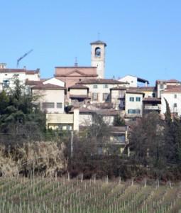 Panorama e chiesa di San Quirico e Giuditta