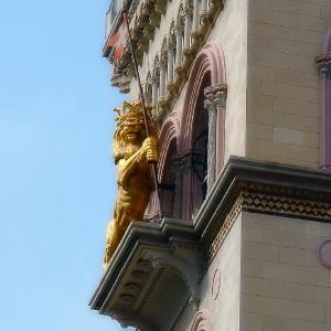 Particolare del campanile   (Duomo di Messina)