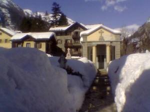 Cimitero di Gressoney St. Jean il 27-2-09