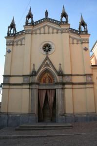Facciata della chiesa di SS Maria Vergine ed Eusebio