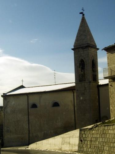 San Giovanni in Galdo - chiesa controluce