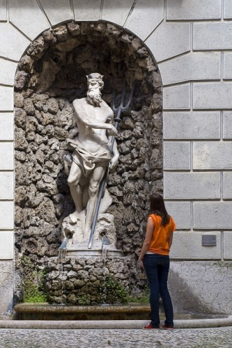 Trento - Dio Nettuno a palazzo