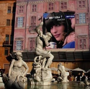 Fontana del Nettuno in piazza Navona