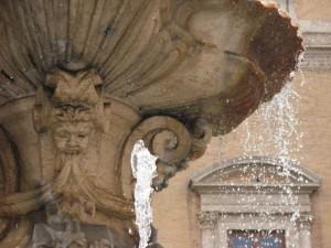 Fontana in piazza Farnese, particolare