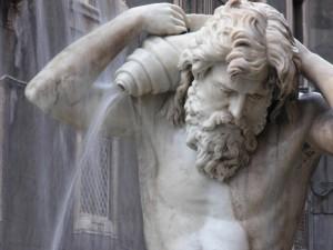 Fontana dell'Amenano, particolare