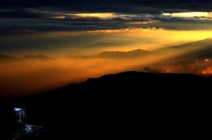 Chiesola di Santa Maria al tramonto.