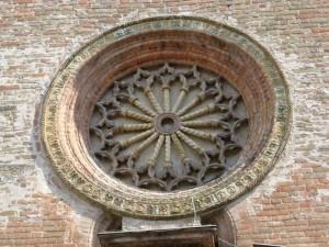 Il rosone della chiesa di Pizzighettone