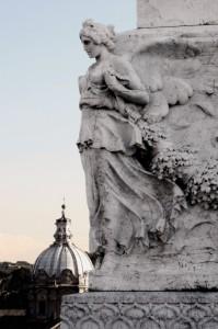 Veduta della cupola della chiesa dei Ss. Luca e Martina.