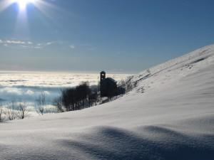 Neve e Nuvole al m.te Linzone