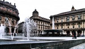La fontana di Piazza De Ferrari