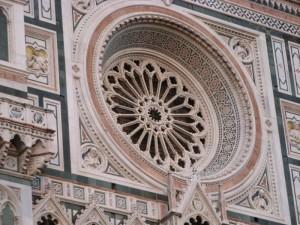 Il rosone del duomo di Firenze