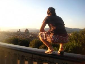 Contemplando le bellezze di Firenze