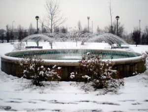 Fontana nell'ultima neve