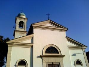 Scorcio della chiesa a Vergo Zoccorino