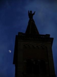 La luna e l'accoglienza