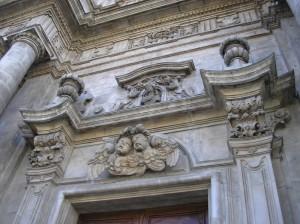 Particolare della chiesa di Sulmona