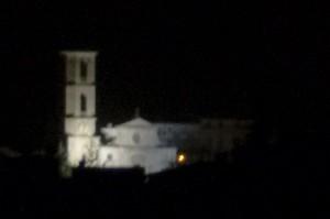 Santa Croce nella foschia della notte