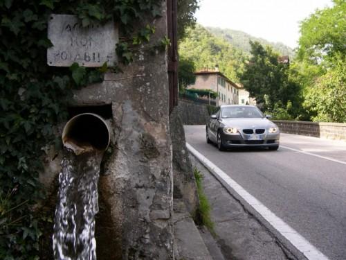 Piteglio - Acqua non potabile