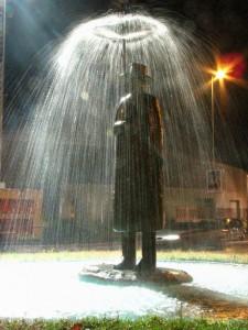 L'ometto sotto la pioggia