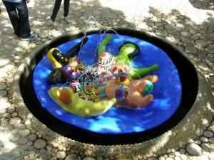 giardino dei tarocchi particolare di fontana