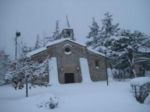 Santa Maria Extra Muros sotto la neve