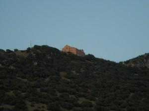 Santuario Madonna del Granato vista dalla sorgente di Capo di fiume