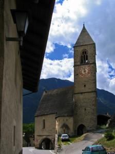 Laatsch, la chiesa bucata