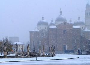 Padova, Santa Giustina sotto la neve
