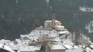 Chiesa sul colle di Carano, val di Fiemme